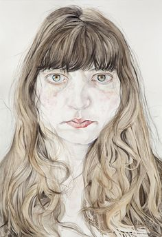 Ishbel Myerscough, Self-Portrait, 2009. Watercolour, 43 x 30 cm. Ruth Borchard Self-Portrait Prize 2015 - 10 July - 9 October 2015 - Works | Piano Nobile