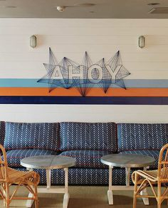 A fun detail at The Pines at the Ivanhoe hotel in Manly that I designed using Australian textile designers & local craftsman