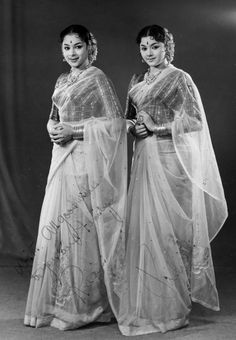 Bollymusings — Two of the Travancore sisters trio - Ragini and. Vintage Bollywood, Bollywood Funny, Bollywood Actress, Vintage India, Rare Photos, Vintage Photographs, Malayalam Actress, Old Actress, Indian Attire