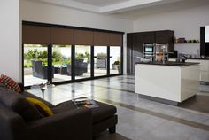 Browse through the bi-folding doors available from Window Design Group- offering bi-fold patio doors that are the perfect solution for expansive openings. Blinds For Bifold Doors, Sliding Patio Doors, Folding Doors, Sliding Glass Door, Windows And Doors, Glass Doors, Blinds For Patio Doors, Blinds For French Doors, Patio Door Coverings