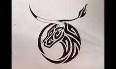 taurus zodiac tattoos | 14787-tribal-taurus-tattoo-designs-zodiac-symbol-tattoos-tattoo-design ...