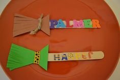Halloween Crafts For Toddlers - Broomstick Bookmark