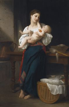 William-Adolphe Bouguereau 'Premières Caresses' (1866)