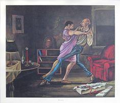 """Annniversary"" print by Ernie Barnes 18 x 21 in. Ernie Barnes,http://www.amazon.com/dp/B007ZDZEA6/ref=cm_sw_r_pi_dp_jwnYsb1862QWF0CP"