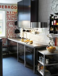 Swap a fitted kitchen for freestanding pieces