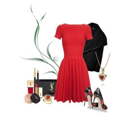 Go Red! by goldieazcmd on Polyvore featuring polyvore, fashion, style, Alaïa, Ralph Lauren Black Label, Dolce&Gabbana, Yves Saint Laurent, R.H. Macy's & Co. and clothing