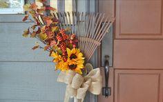 DIY Autumn Rake Wreath Display : Factory Direct Craft Blog