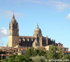 Las catedrales de Salamanca desde el sur