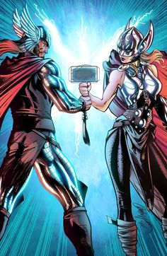 Thor & Thor by J. Scott Campbell