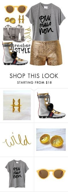 """""""Oui, mais non"""" by pensivepeacock ❤ liked on Polyvore featuring Gucci, Sincerely, Jules, Lanvin and Miu Miu"""