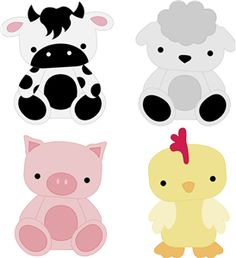 Silhouette Online Store - View Design #5421: animal set