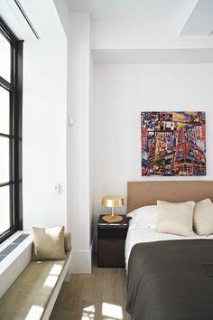 Piet Boon interieur slaapkamer Huys NY #parket #hout #vloer #interieur