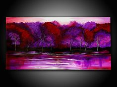 ORIGINAL LANDSCAPE PAINTING abstract  40 textured