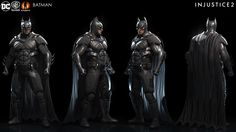 Brendan George : Character model and materials, built by our external partners and polish by our internal character and environment art teams. Injustice 2 Characters, Dc Characters, Batman Armor, Batman Vs Superman, Injustice 2 Batman, Comic Con Costumes, Batman The Dark Knight, Animation, Deathstroke