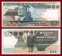 Notas de Portugal e Estrangeiro World Paper Money and Banknotes: Portugal Nostalgia, Money Notes, Childhood Memories, Branding, Country, World, Rare Coins, Family Roots, Azores
