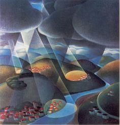 """Alessandro Bruschetti """"Pioggia e sole"""" (Rain and sun) 1934"""