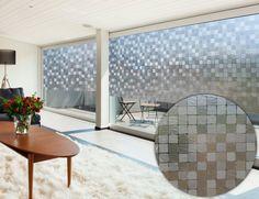 Selbstklebende Vinyl-Tapete mit quadratischem Muster / Self-adhesive vinyl wallpaper with square pattern | Linea Hogar | Heimtextil 2016 | TOP FAIR Blog