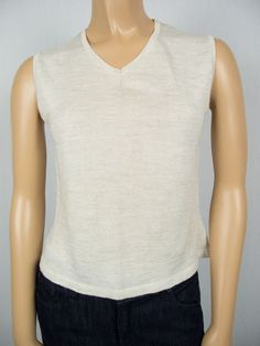 ISABEL MARANT Knit Sweater Vest 2 XS Lightweight Multi Tone Beige Versatile