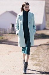 T Tahari Chloe Notch Collar Single Breasted Coat, Halogen Mock Turtleneck Sweater & Sweater Knit Pencil Skirt w/Jimmy Choo Dayno Boot   POV Fashion a la #Nordstrom #GreenHills #TN #Fashion #Coat #MichelleSchwantes
