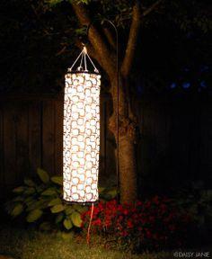 Garden : DIY Fabric Windsock Garden Lantern
