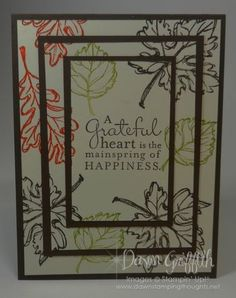 Triple Stamping video (Dawns stamping thoughts Stampin'Up! Demonstrator Stamping Videos Stamp Workshop Classes Scissor Charms Paper Crafts)