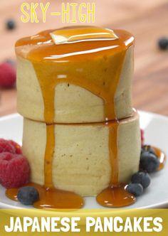 Sky-High Japanese Pancakes Recipe