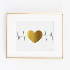 EKG Heart Printable Art | Gift for Nurse | Nurse Gift | Nurse Gifts | Nursing Student | Nurse Graduation Gift | Nursing| Nurse Decor | EKG by alwaysyesterday on Etsy