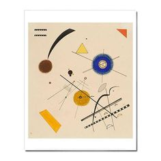 Archival digital reproduction print on acid free paper of Wassily Kandinsky's Three Free Circles, 1923 LACMA's permanent collection includes Three Free Circles plus over 130 additional works by Wassil