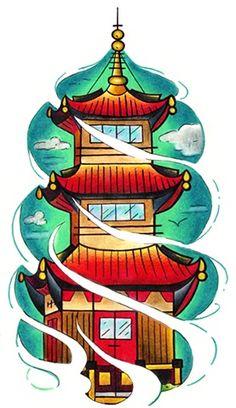 pagoda tattoos - Google Search