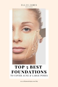 For those who need a foundation that evens out color and helps cover and smooth skin texture its important to know which foundation to choose. Check out our top 5 best foundations to cover acne scars and large pores in Best Makeup For Acne, Acne Makeup, Best Makeup Products, Beauty Products, Covering Acne, Acne Cover Up, Best Foundation For Acne, Big Pores, Make Up