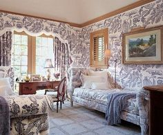 20 Best Blue Toile bedroom images in 2015 | Toile, Blue, White ...