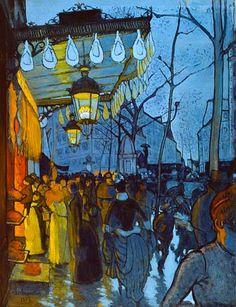 Louis Anquetin, Avenue de Clichy, 1887.
