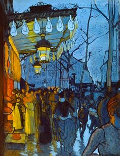 Avenue de Clichy: Five O'Clock in the Evening -1887 - Louis Anquetin  ............#GT