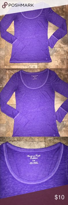 American eagle long sleeve shirt medium American eagle long sleeve shirt great used condition size medium  Let's bundle !  10% off on ANY two items purchased AND shipped together.  15% off ANY three items purchased AND shipped together! American Eagle Outfitters Tops Tees - Long Sleeve