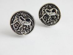 Elephant Cufflinks African Elephant Suit Accessories Cuff Links Silver Snap Gift Ideas for Him Mens statement by TheBlackerTheBerry
