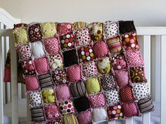 Rag Puff Quilt Pattern- The easiest pattern we sell--sew a puff quilt that's ragged on one side and normal on the other! No binding to worry about either--this quilt is fun and easy! @Heidi Haugen Ferguson