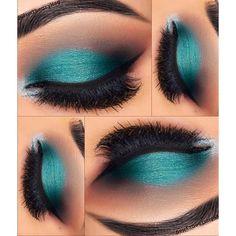 Teal Makeup, Cute Makeup, Skin Makeup, Eyeshadow Makeup, Eyeshadow Ideas, Drugstore Makeup, Oil Makeup Remover, Makeup Brushes, Eyeshadow Brushes