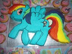 My little Pony Rainbow dash cake made for my daughter
