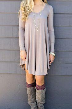 Long sleeve top dress