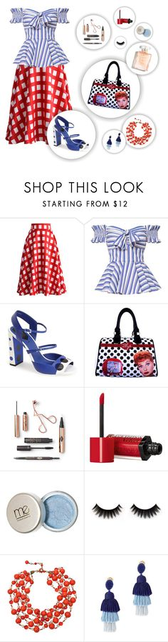 """""""Patter Mixing: That One Eccentric Aunt"""" by makahiya88 ❤ liked on Polyvore featuring Chicwish, Caroline Constas, Fendi, I Love Lucy Signature Product, Bourjois, Miriam Haskell and Oscar de la Renta"""