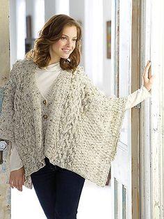 Free Pattern: Aran Knit Wrap/Winding Cables Wrap by Nazanin S. Fard