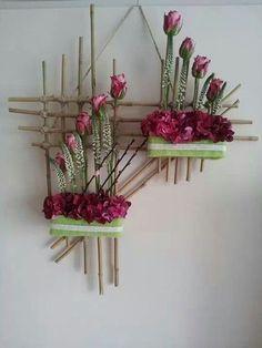 On a budget DIY projects pallet garden design ideas, indoor jungle, small . On a budget DIY Design Floral, Deco Floral, Arte Floral, Plant Wall, Plant Decor, Flower Crafts, Flower Art, Decoration Plante, Flowers Decoration