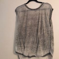 Burnout thick sleeve tank Burnout shear shirt Forever 21 Tops Tank Tops