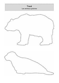 Polar Bear Outline, Animal Outline, Winter Activities, Activities For Kids, Projects For Kids, Crafts For Kids, Animal Articles, Polo Norte, Fun Facts About Animals