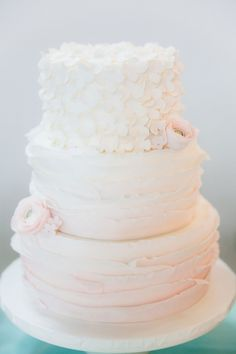 Dreamy pastel. #wedding #cake
