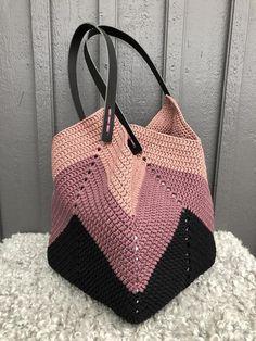 Crochet Beach Bags, Crochet Market Bag, Crochet Diy, Crochet Tote, Crochet Handbags, Crochet Purses, Crochet Granny, Net Bag, Jute Bags