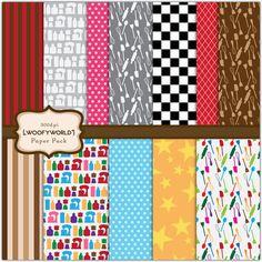 WP136 Kitchen Diva - Digital Paper Pack - for Scrapbook, invitation, cards, paper craft, stationary, photocard. $3.00, via Etsy.