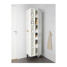 LILLÅNGEN Högskåp 1 dörr/2 avslutningshyllor - aluminium - IKEA