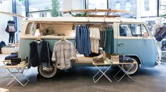 The visual merchandise team's spring brief was straightforward — refurbish a classic Kombi van and position it on display in our South Yarra store Mobile Boutique, Mobile Shop, Shop Interior Design, Store Design, Boutique Interior, Truck Store, Shop Truck, Foodtrucks Ideas, Mobile Fashion Truck