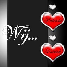 Wij twee harten zelf invullen - Trouwkaarten - Kaartje2go